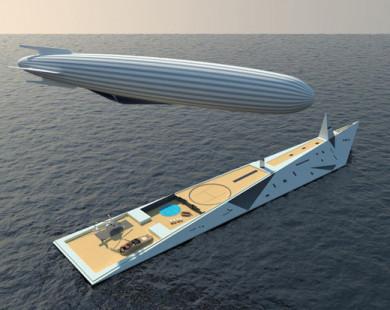 Thiết kế siêu du thuyền kết hợp khinh khí cầu đẹp mê hoặc