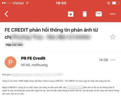 """Người phụ nữ bị FE Credit """"khủng bố"""" điện thoại, ráo riết đòi nợ cả tháng trời dù không vay tiền"""