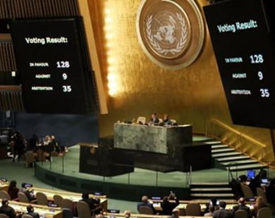Gần 130 nước phản đối quyết định của ông Trump về Jerusalem