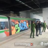 Tàu đường sắt Cát Linh – Hà Đông bị vẽ bậy: Ai đáng bị xử lý?
